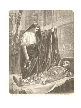 augustus views alexander's cadaver