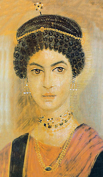 portrait of Roman lady from Fayum, Egypt