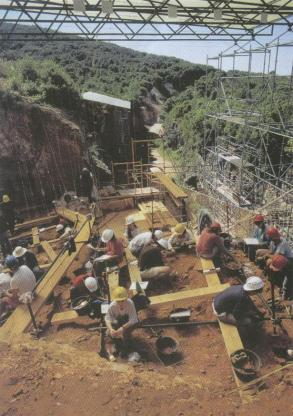 archaeologists atapuerca excavation site