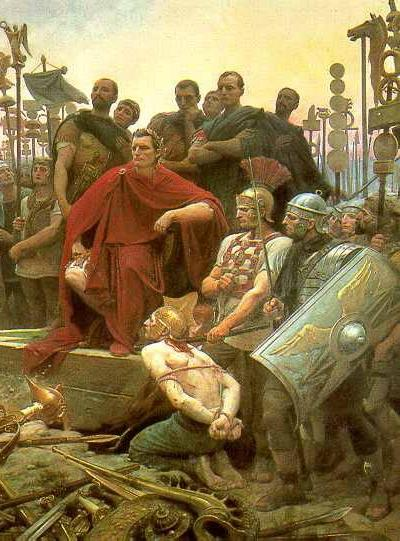 caesar receives vercingetorix