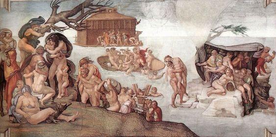 El Diluvio Universal de Miguel Ángel