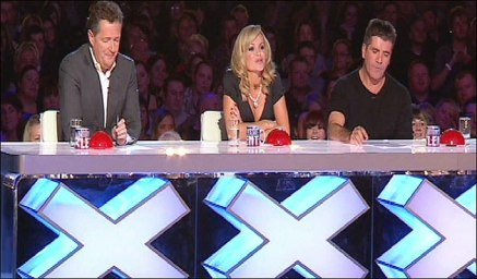 Deliberation judges on the TV show Britain's Got Talent