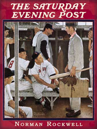 The Rookie by Norman Rockwell, on the cover of The Saturday Evening Post