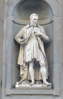 Esatatua de Miguel Ángel en Florencia
